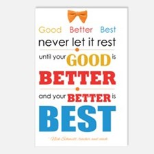 Good, Better, Best Postcards (Package of 8)