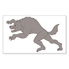 Big Bad Wolf Running Decal