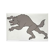 Big Bad Wolf Running Rectangle Magnet