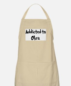 Addicted to Okra BBQ Apron