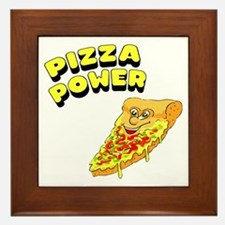 Pizza Power Framed Tile