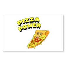 Pizza Power Rectangle Decal