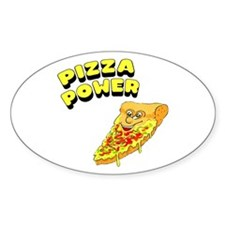 Pizza Power Oval Sticker