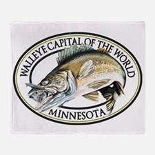 Walleye Capital of the World Throw Blanket