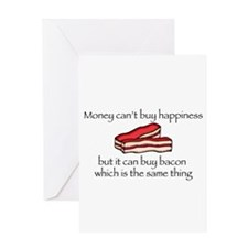 Bacon Money Greeting Cards