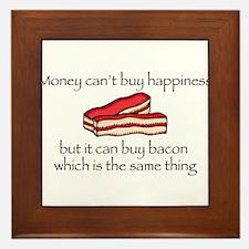Bacon Money Framed Tile