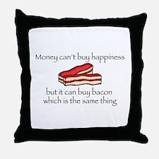 Bacon Money Throw Pillow