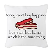 Bacon Money Woven Throw Pillow