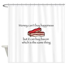 Bacon Money Shower Curtain