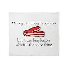 Bacon Money Throw Blanket