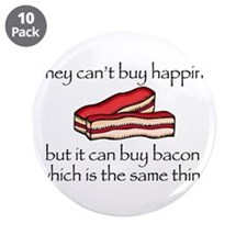 "Bacon Money 3.5"" Button (10 pack)"