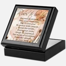 Rules to Live By Keepsake Box