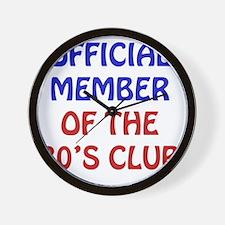 80th Birthday Official Member Wall Clock