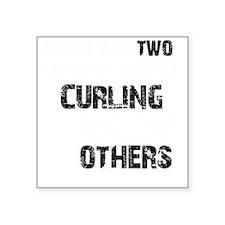"Curling designs Square Sticker 3"" x 3"""