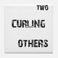 Curling designs Tile Coaster