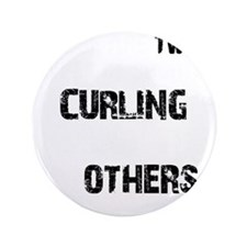 "Curling designs 3.5"" Button"