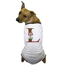 Monogram Letter L Dog T-Shirt