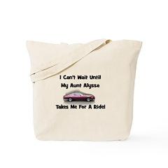 Aunt Alyssa - Camaro Ride Tote Bag