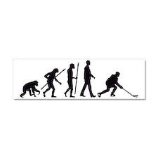 evolution of man hockey player Car Magnet 10 x 3