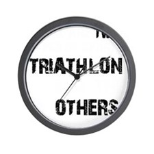 Triathlon Designs Wall Clock