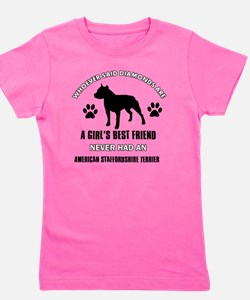 American Staffordshire Terrier Mommy de Girl's Tee