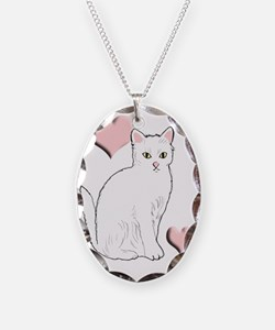White Kitty Necklace