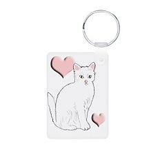 White Kitty Keychains