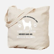 Alaskan Malamute Mommy Designs Tote Bag
