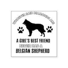 "Belgian Shepherd Mommy Desi Square Sticker 3"" x 3"""