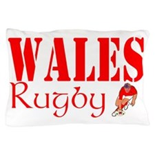Wales rugby player graphic Pillow Case