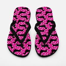 Pink Polka Doxies Flip Flops