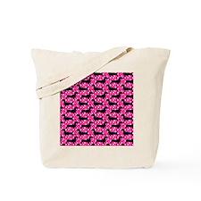 Pink Polka Doxies Tote Bag