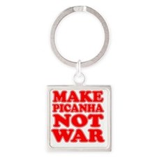Make Picanha Not War Square Keychain