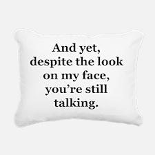 Despit the Look Rectangular Canvas Pillow