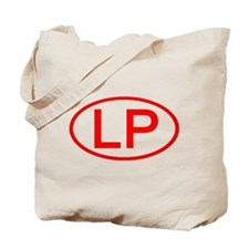 LP Oval (Red) Tote Bag