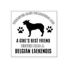"Belgian Laekenois Mommy Des Square Sticker 3"" x 3"""