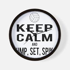 Keep Calm Volleyball Wall Clock