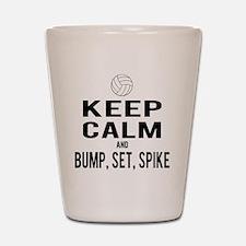 Keep Calm Volleyball Shot Glass