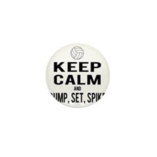 Keep Calm Volleyball Mini Button