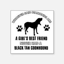"""Black Tan Coon Hound Mommy  Square Sticker 3"""" x 3"""""""