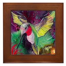 Its Ruby, Humming Bird Design by GG Bu Framed Tile