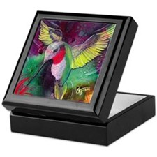 Its Ruby, Humming Bird Design by GG B Keepsake Box
