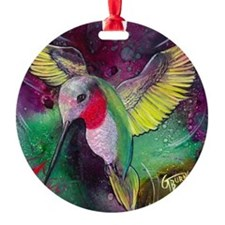 Its Ruby, Humming Bird Design by GG Ornament