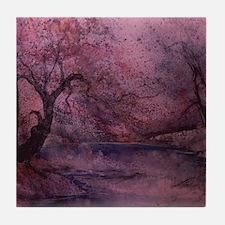 Autumn Pond 2 Tile Coaster