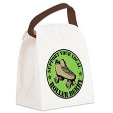 Support Roller Derby Green Canvas Lunch Bag