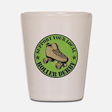 Support Roller Derby Green Shot Glass