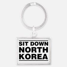 Sit Down, North Korea (Black Le Landscape Keychain