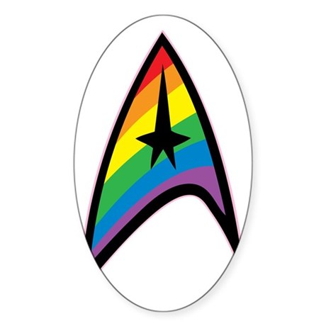 Star Trek LGBTQ Rainbow Sticker (Oval)