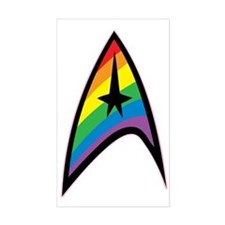 Star Trek LGBTQ Rainbow Bumper Stickers