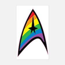 Star Trek LGBTQ Rainbow Decal